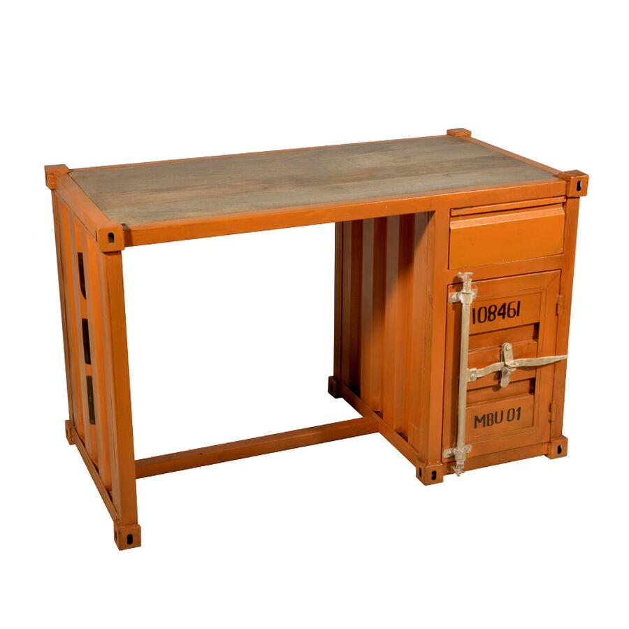 schreibtisch containe look schiffcontainer look. Black Bedroom Furniture Sets. Home Design Ideas