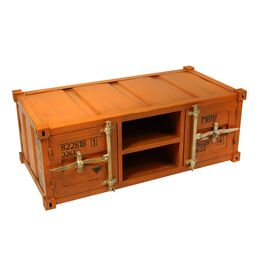 Couchtisch Container orange