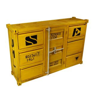 sideboard container gr e l gelb. Black Bedroom Furniture Sets. Home Design Ideas