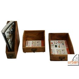 Office Set natur - inkl. Kiste DIN A4, DIN A5 & Magazin...