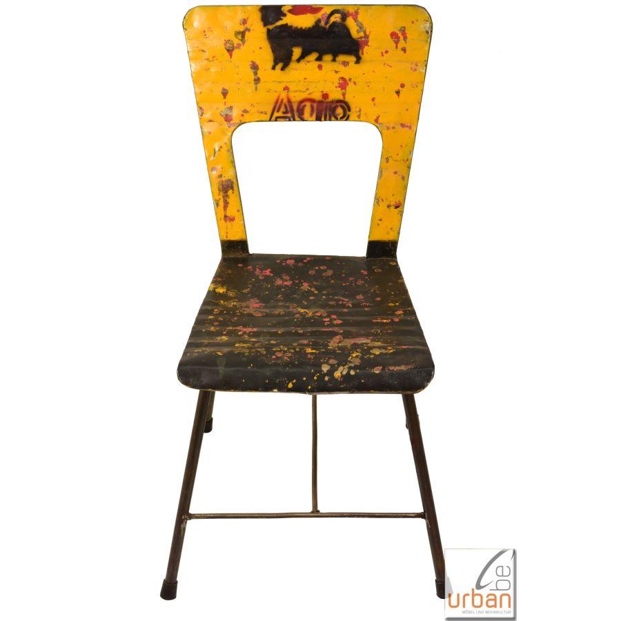 metall stuhl industrial loft von. Black Bedroom Furniture Sets. Home Design Ideas