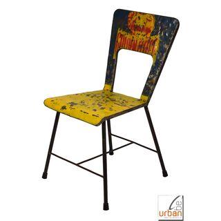 Great Stuhl Metall Industrial Loft Viii Blaugelb With Stuhl Metall